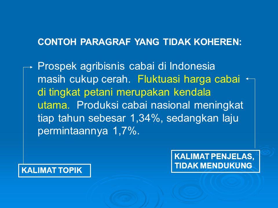Prospek agribisnis cabai di Indonesia masih cukup cerah