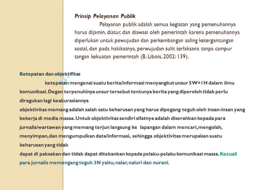 Prinsip Pelayanan Publik