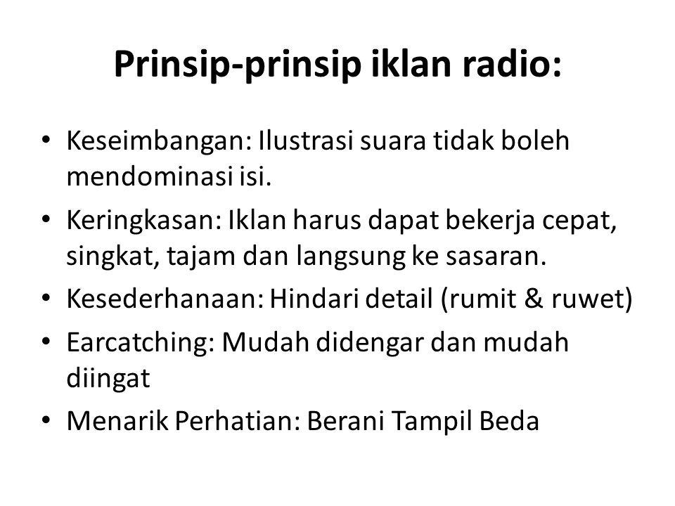 Prinsip-prinsip iklan radio: