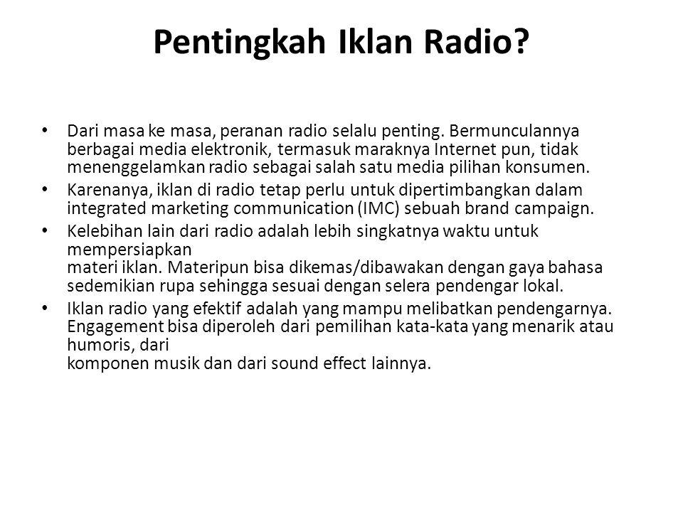 Pentingkah Iklan Radio