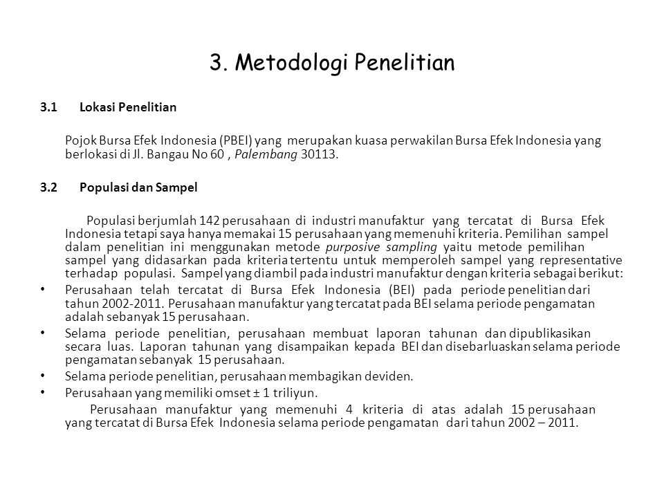 3. Metodologi Penelitian