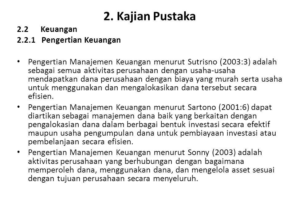 2. Kajian Pustaka 2.2 Keuangan 2.2.1 Pengertian Keuangan