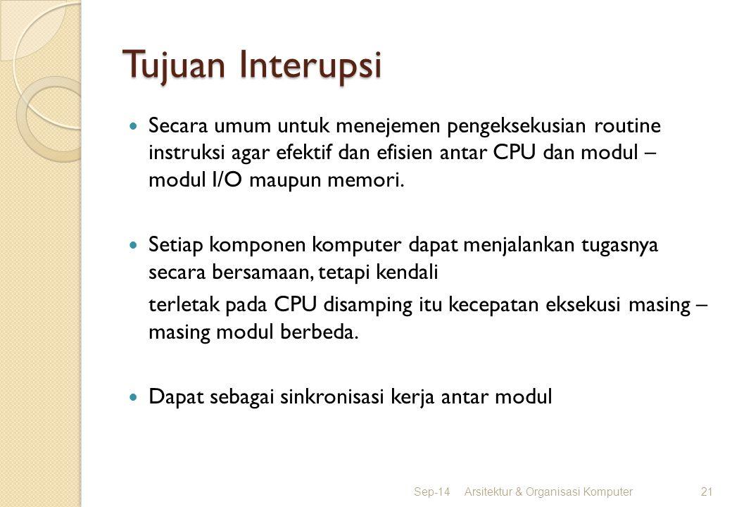 Tujuan Interupsi