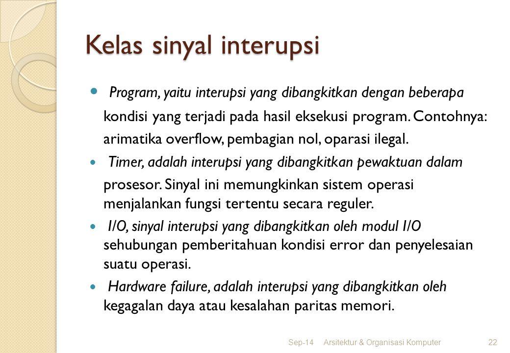 Kelas sinyal interupsi