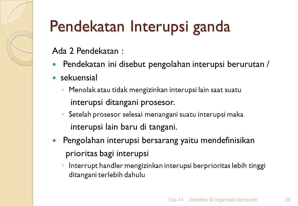 Pendekatan Interupsi ganda