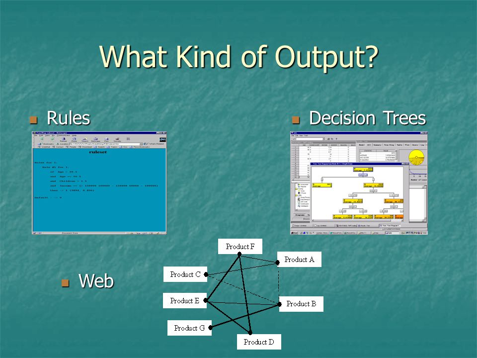 What Kind of Output Rules Decision Trees Web