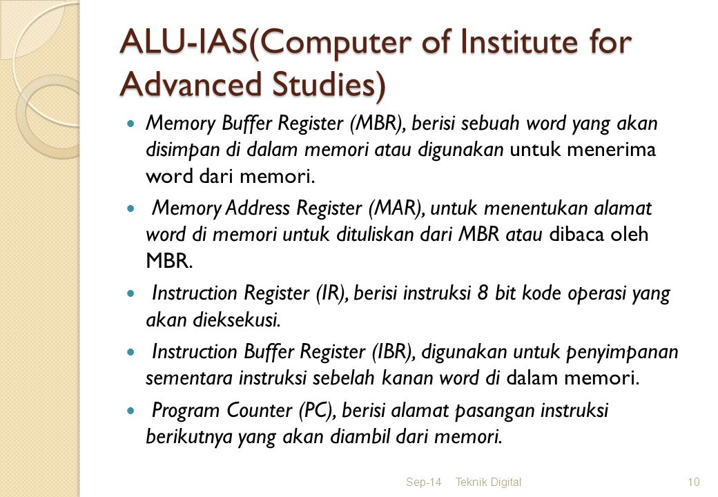 ALU-IAS(Computer of Institute for Advanced Studies)