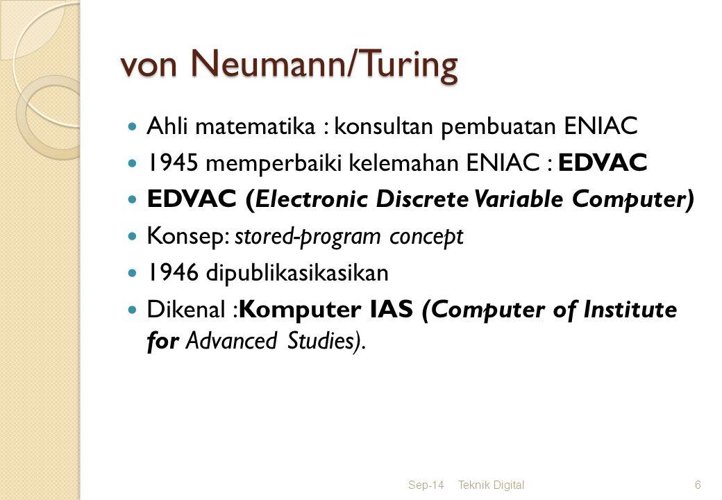 von Neumann/Turing Ahli matematika : konsultan pembuatan ENIAC
