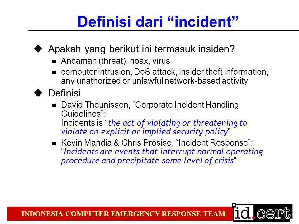 Definisi dari incident