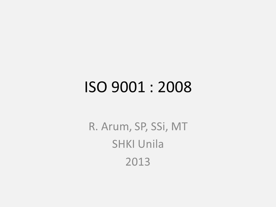 R. Arum, SP, SSi, MT SHKI Unila 2013