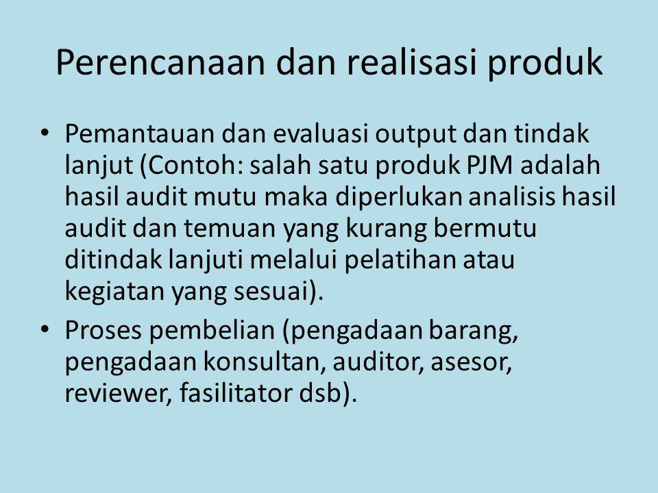 Perencanaan dan realisasi produk