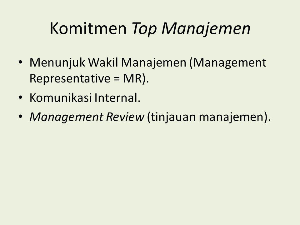 Komitmen Top Manajemen