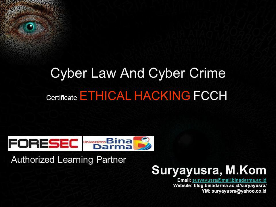 Cyber Law And Cyber Crime