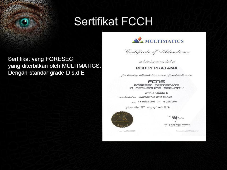 Sertifikat FCCH Sertifikat yang FORESEC