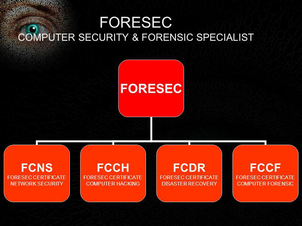 FORESEC COMPUTER SECURITY & FORENSIC SPECIALIST
