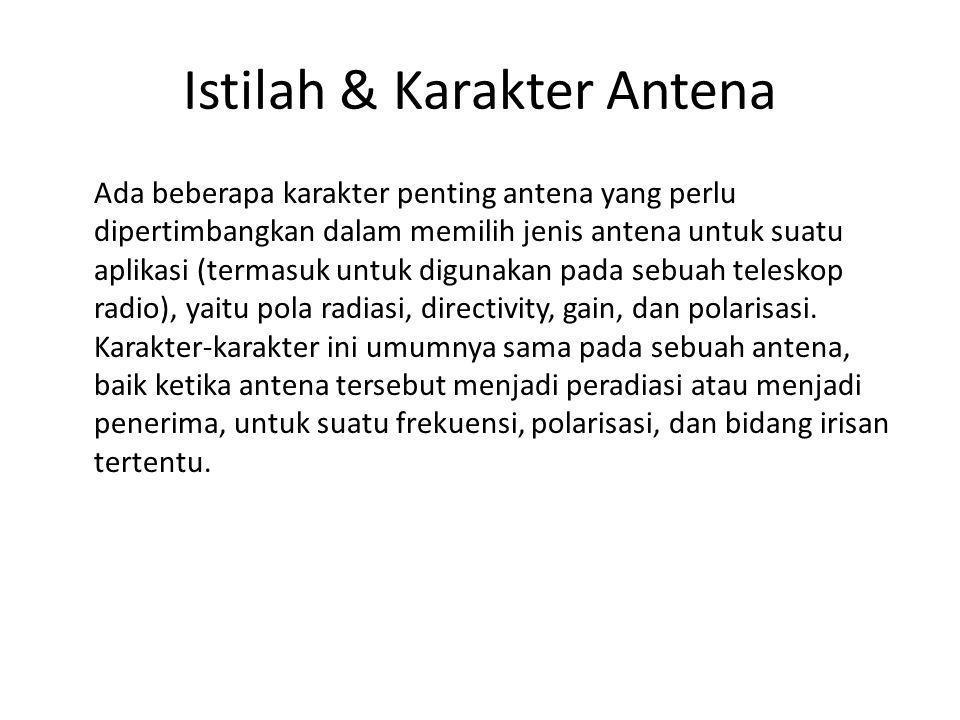 Istilah & Karakter Antena