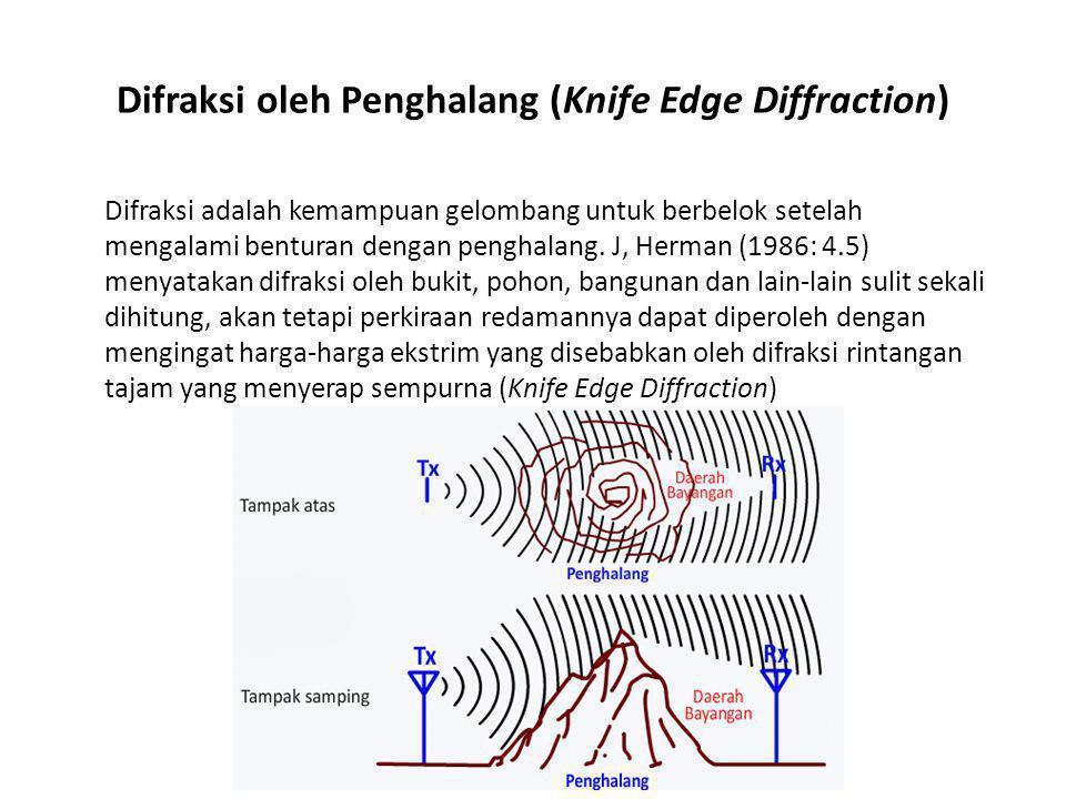 Difraksi oleh Penghalang (Knife Edge Diffraction)