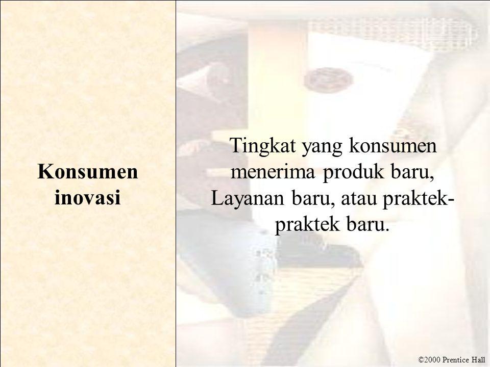 Konsumen inovasi Tingkat yang konsumen menerima produk baru, Layanan baru, atau praktek-praktek baru.