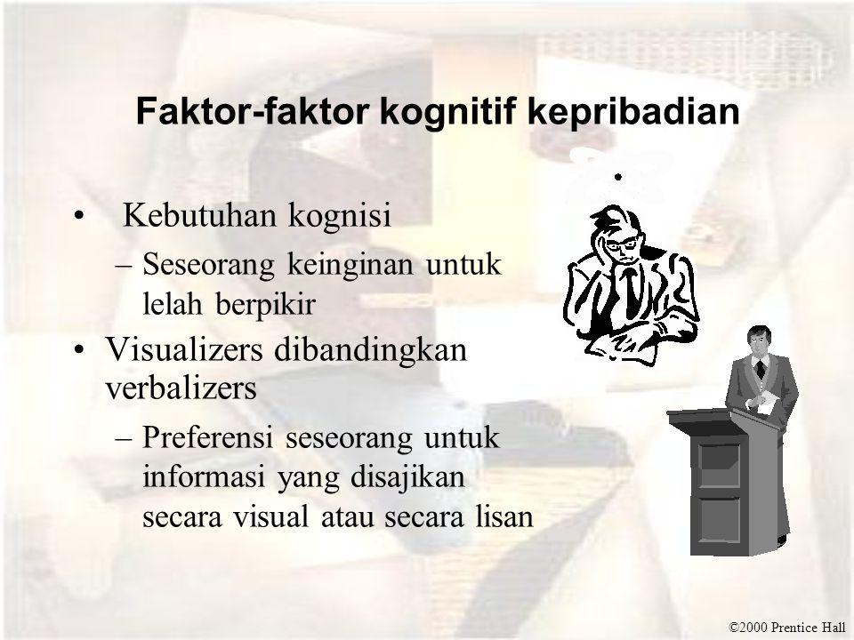 Faktor-faktor kognitif kepribadian