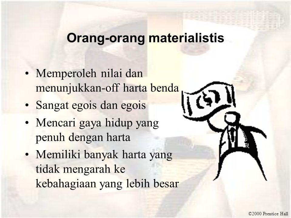 Orang-orang materialistis