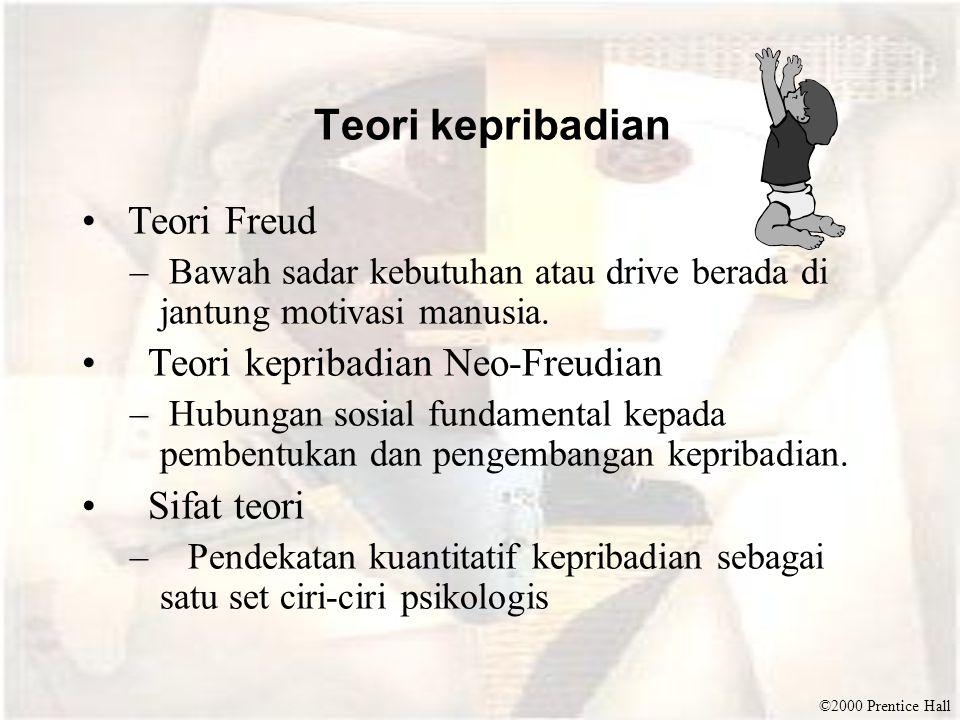 Teori kepribadian Teori Freud Teori kepribadian Neo-Freudian