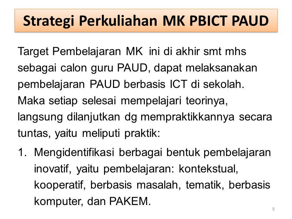 Strategi Perkuliahan MK PBICT PAUD