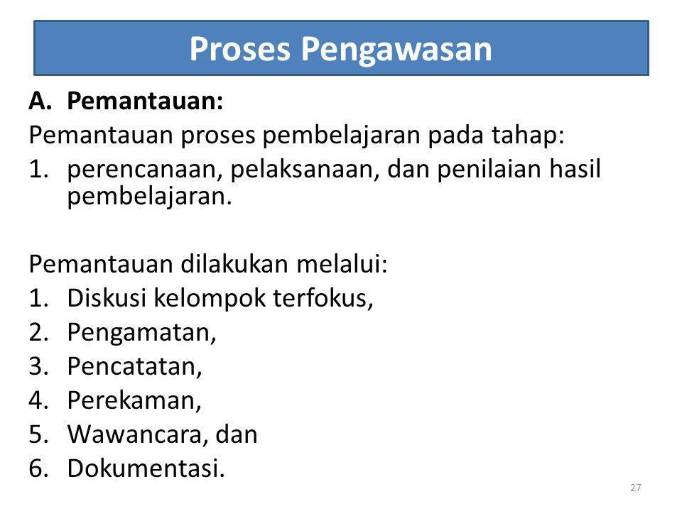 Proses Pengawasan Pemantauan: