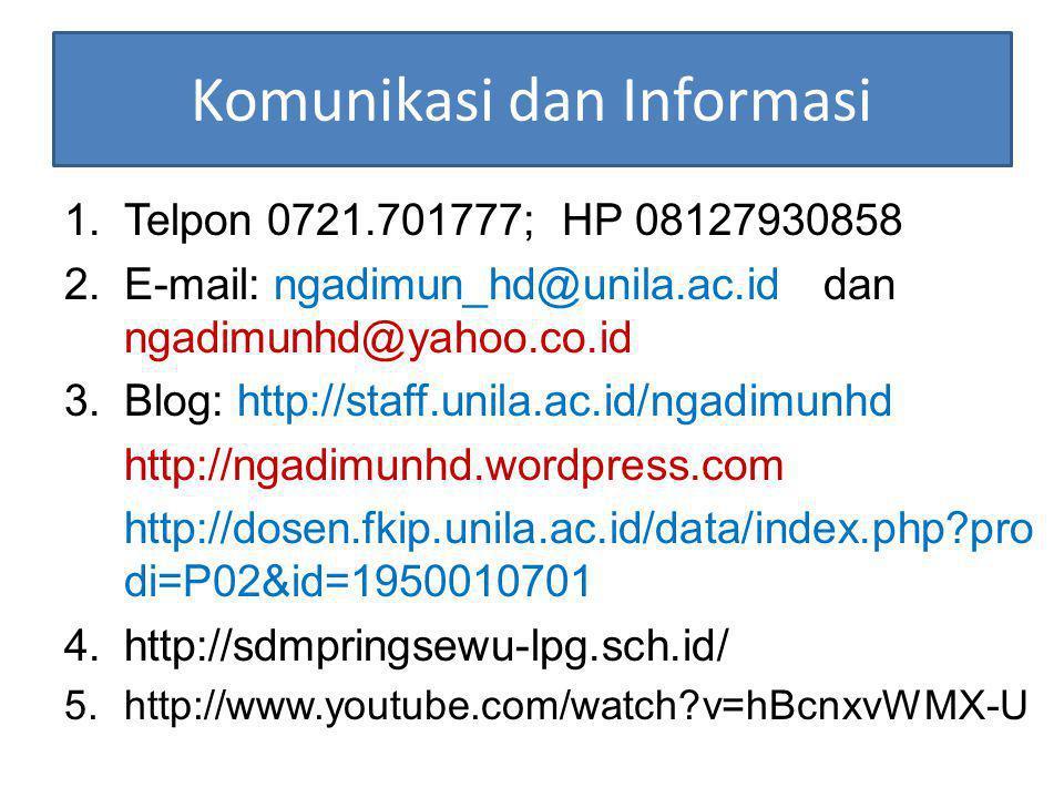 Komunikasi dan Informasi
