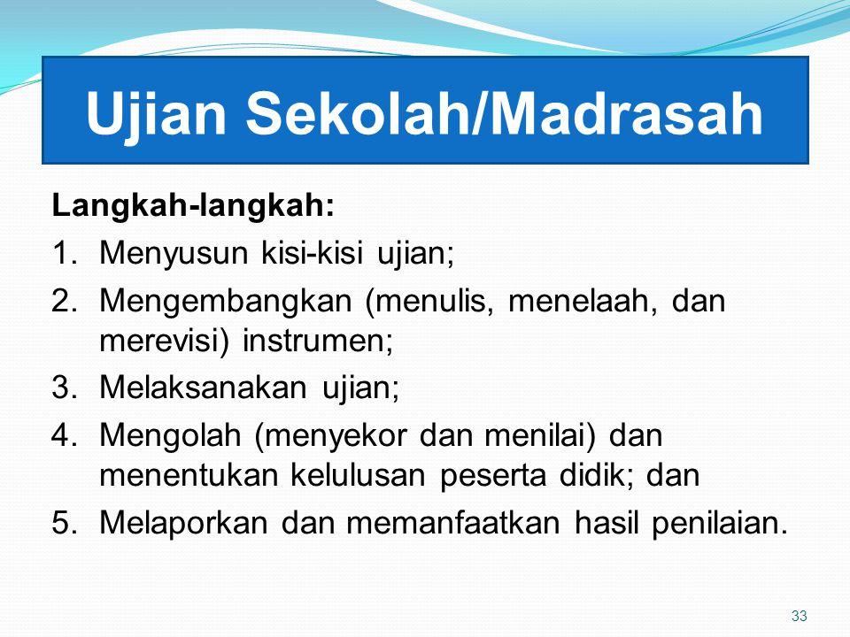 Ujian Sekolah/Madrasah