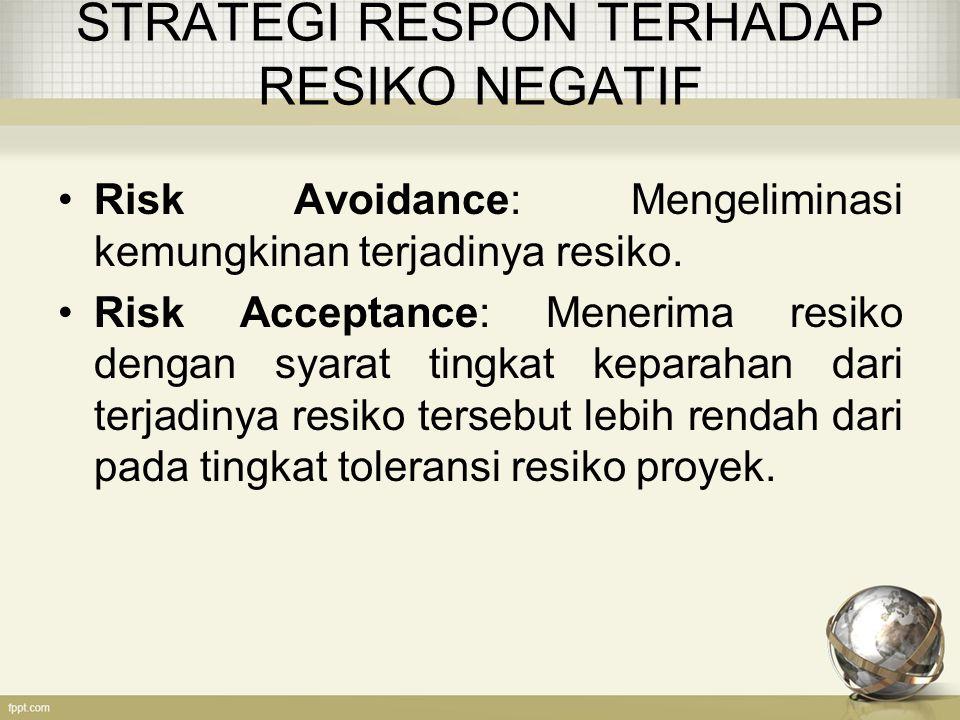STRATEGI RESPON TERHADAP RESIKO NEGATIF