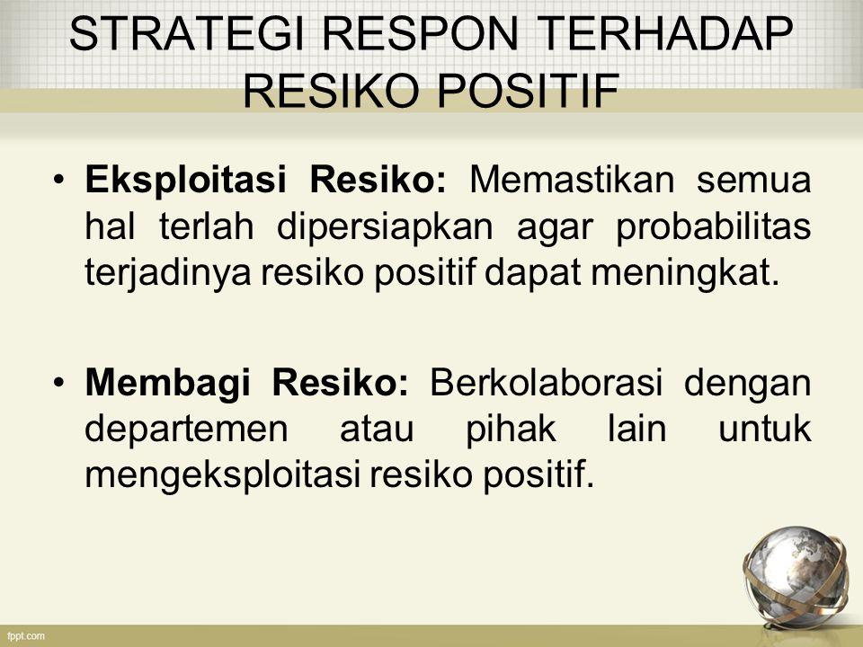 STRATEGI RESPON TERHADAP RESIKO POSITIF