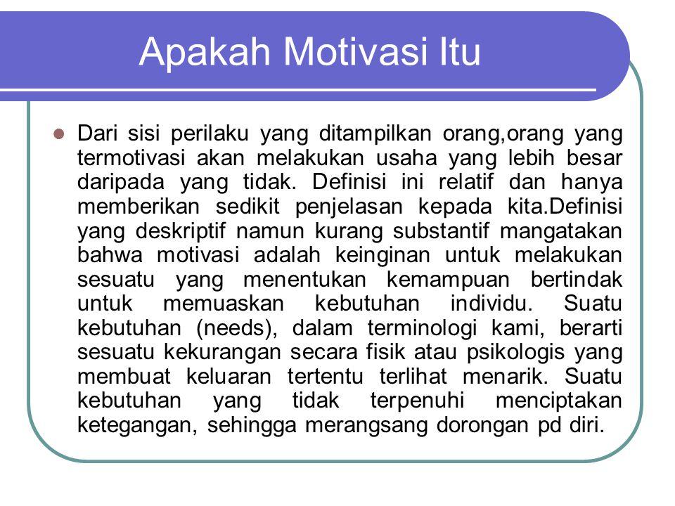 Apakah Motivasi Itu