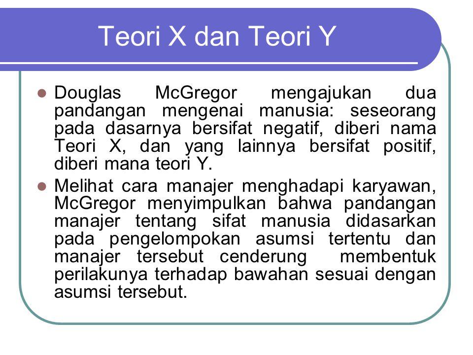 Teori X dan Teori Y