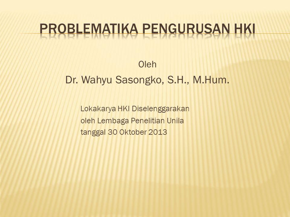 Problematika pengurusan HKI