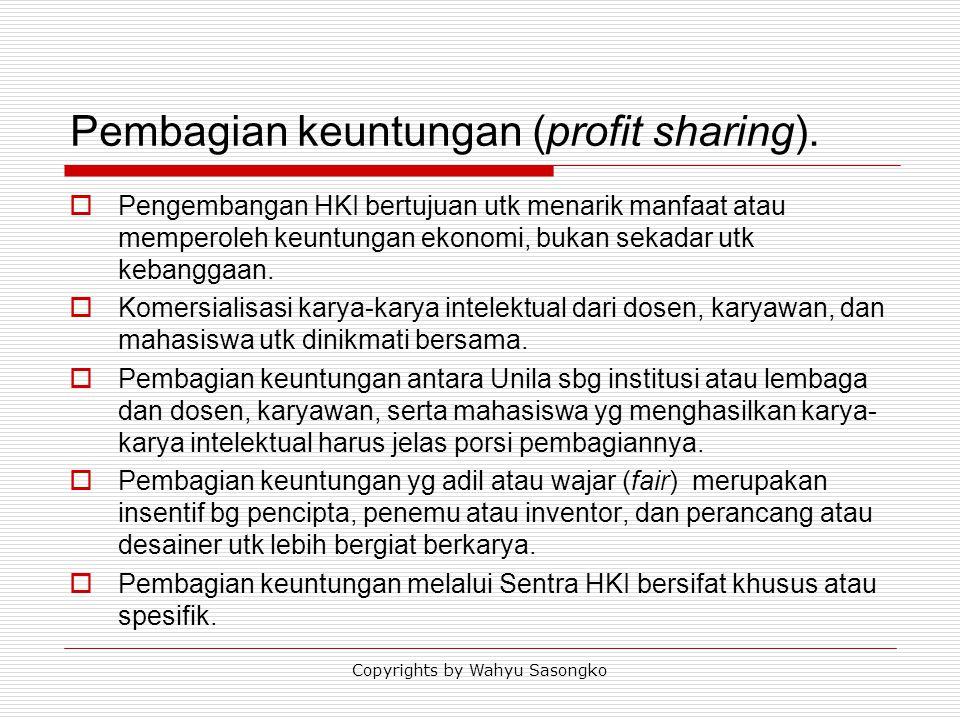 Pembagian keuntungan (profit sharing).