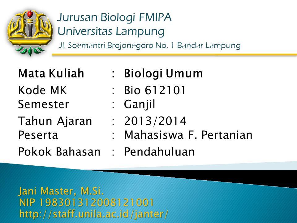 Jl. Soemantri Brojonegoro No. 1 Bandar Lampung