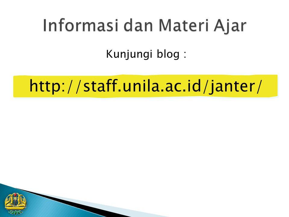 Informasi dan Materi Ajar