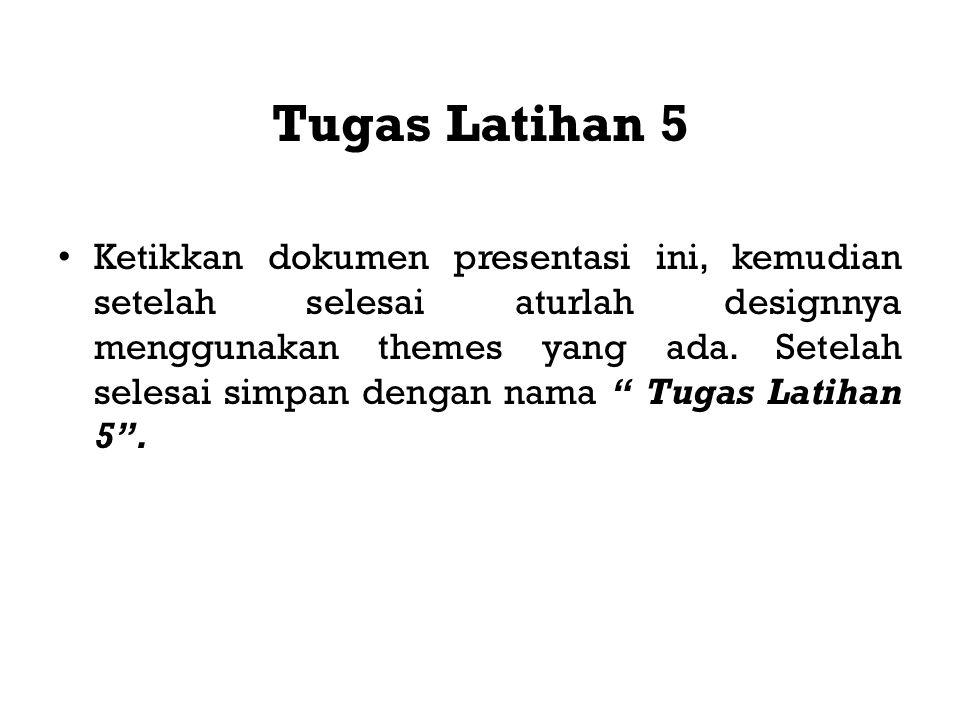 Tugas Latihan 5