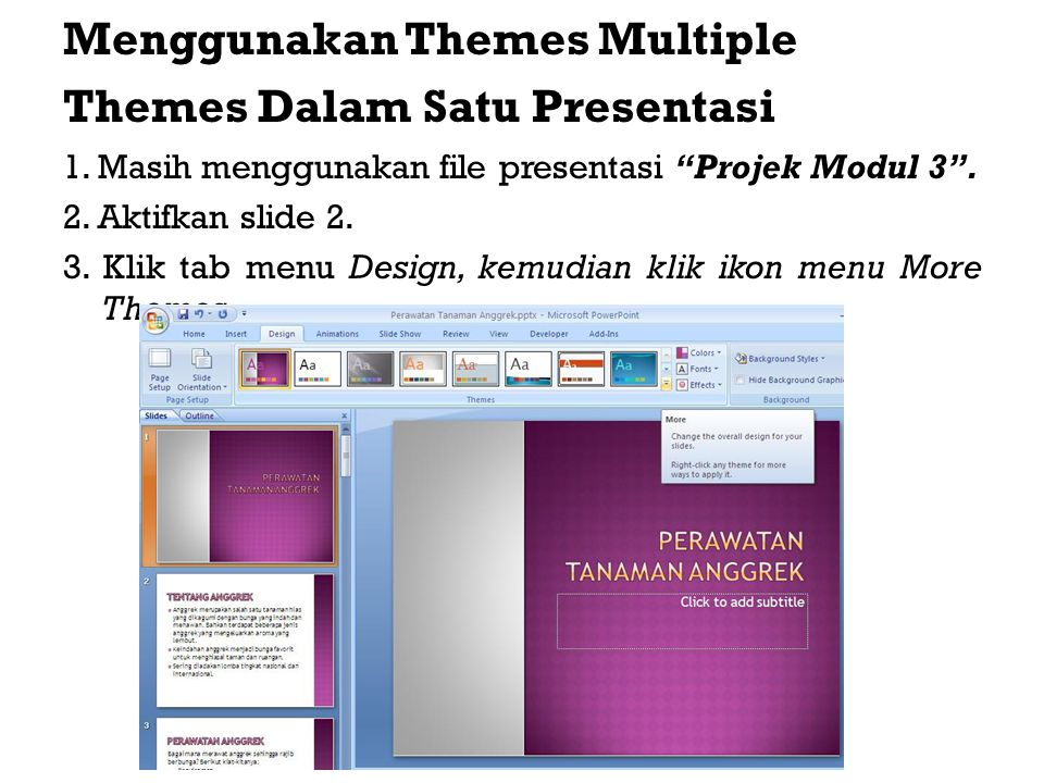 Menggunakan Themes Multiple Themes Dalam Satu Presentasi
