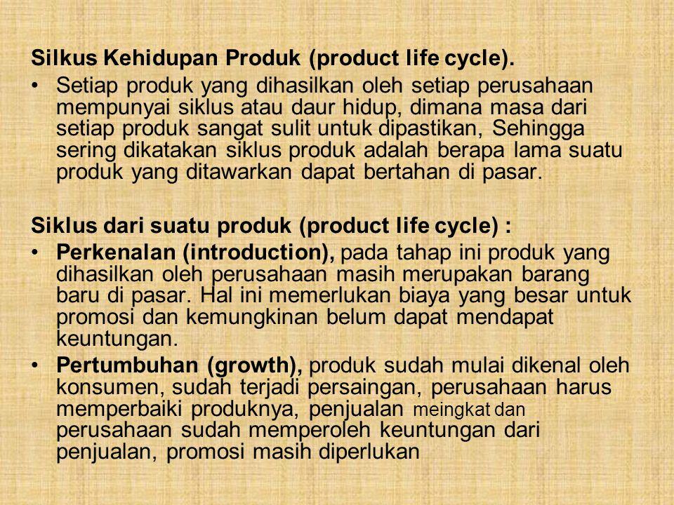 Silkus Kehidupan Produk (product life cycle).