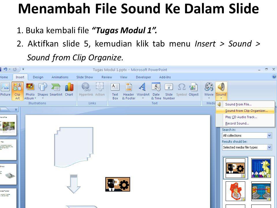 Menambah File Sound Ke Dalam Slide