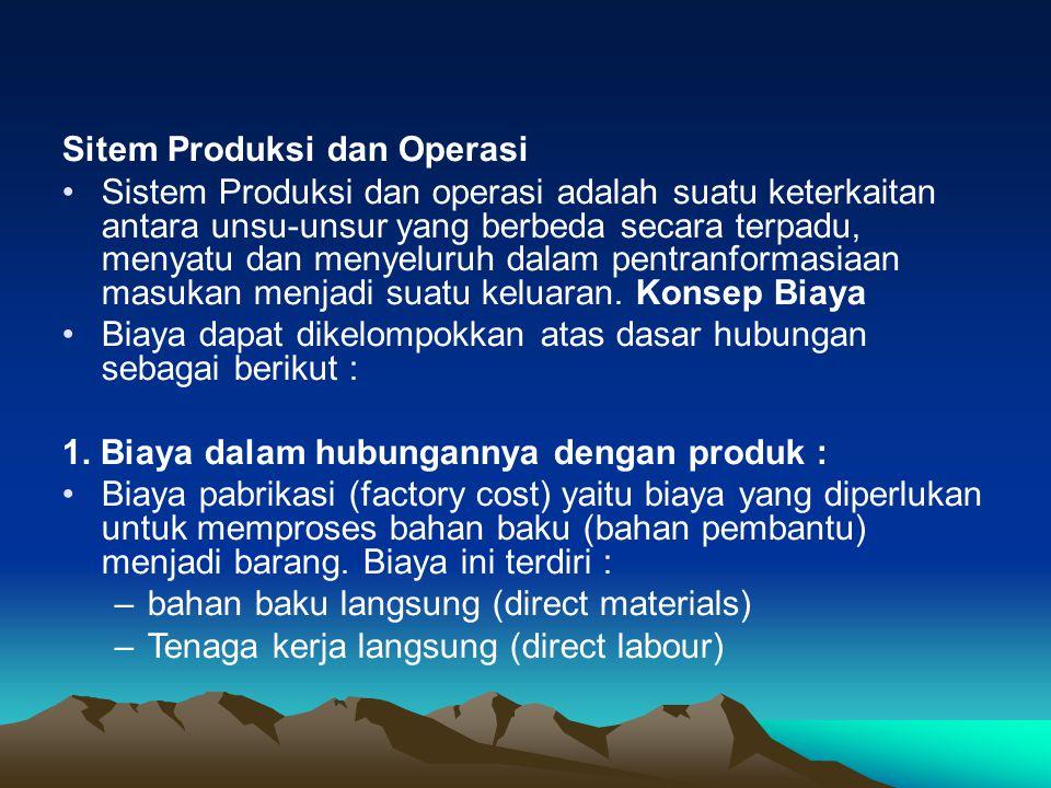 Sitem Produksi dan Operasi