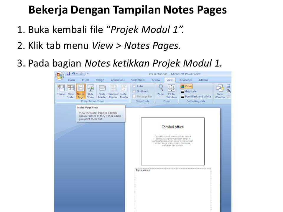 Bekerja Dengan Tampilan Notes Pages