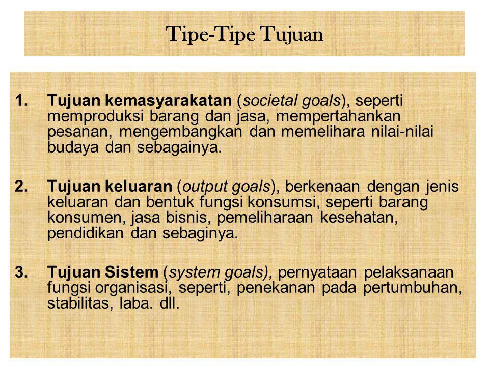 Tipe-Tipe Tujuan