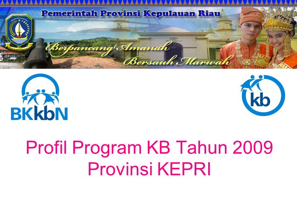 Profil Program KB Tahun 2009 Provinsi KEPRI
