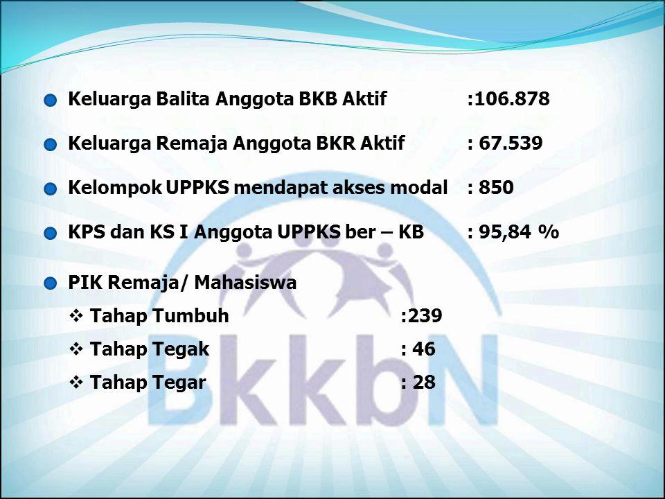 Keluarga Balita Anggota BKB Aktif :106.878