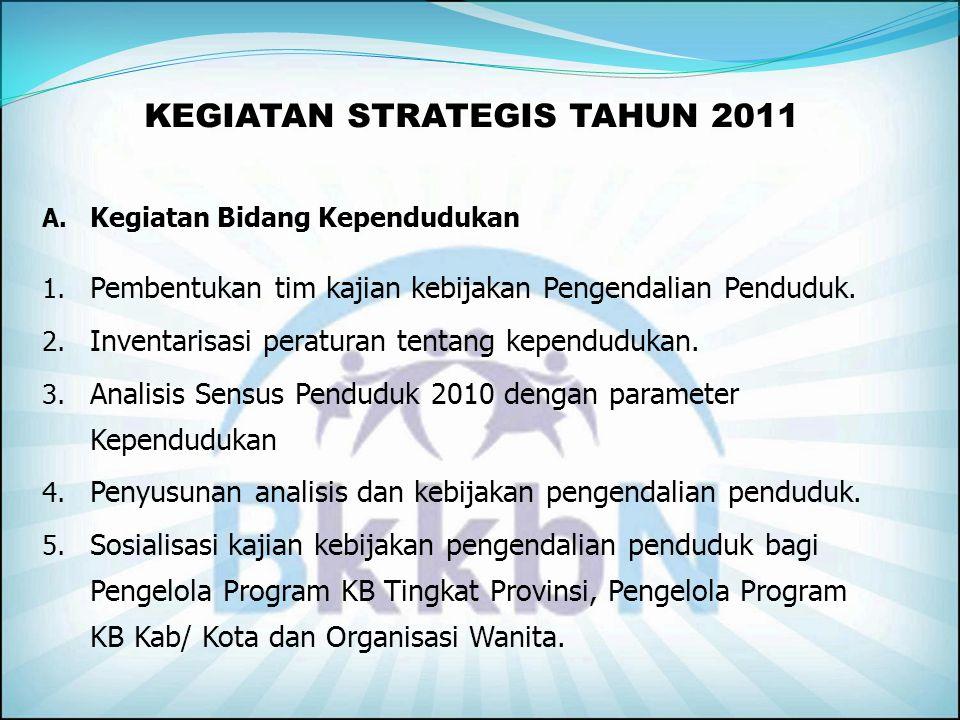KEGIATAN STRATEGIS TAHUN 2011