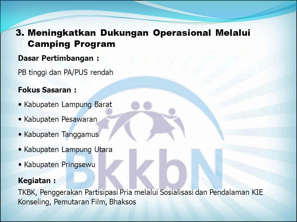 3. Meningkatkan Dukungan Operasional Melalui Camping Program