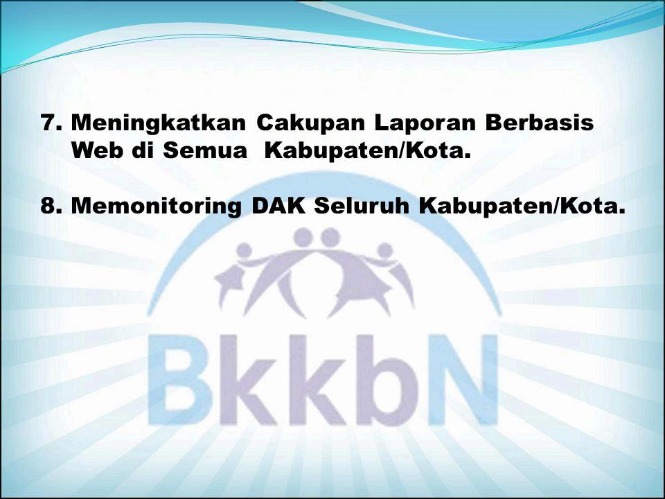 7. Meningkatkan Cakupan Laporan Berbasis Web di Semua Kabupaten/Kota.