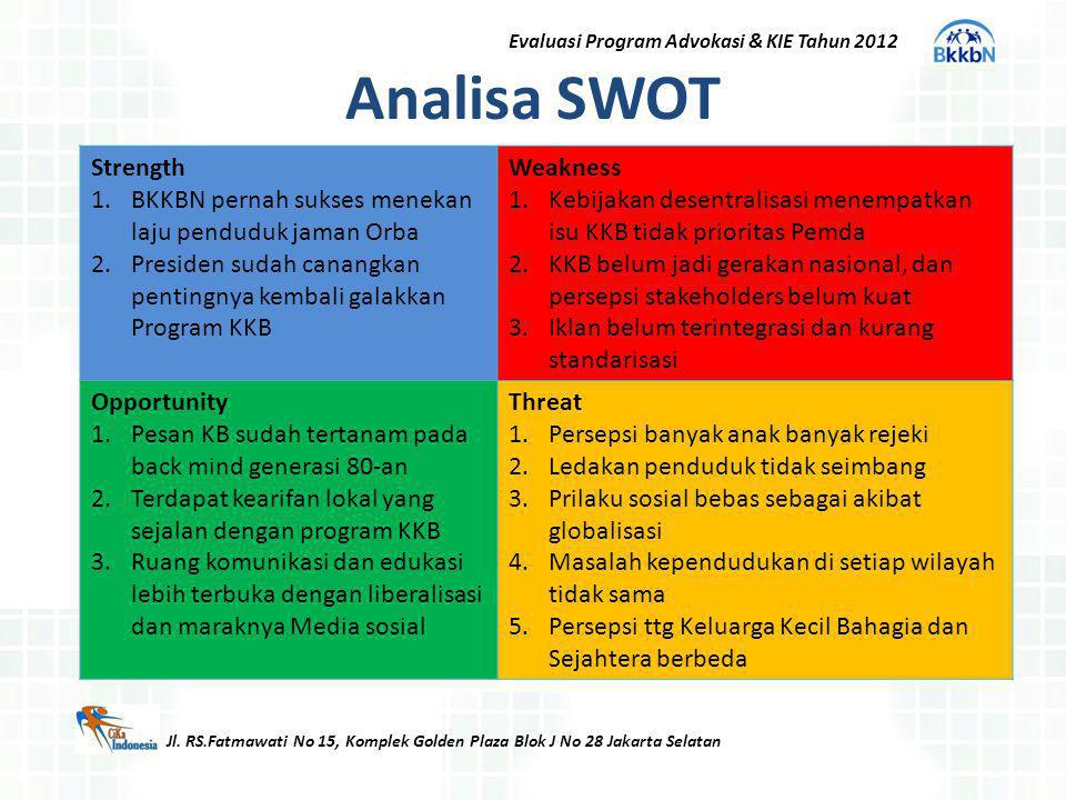 Evaluasi Program Advokasi & KIE Tahun 2012